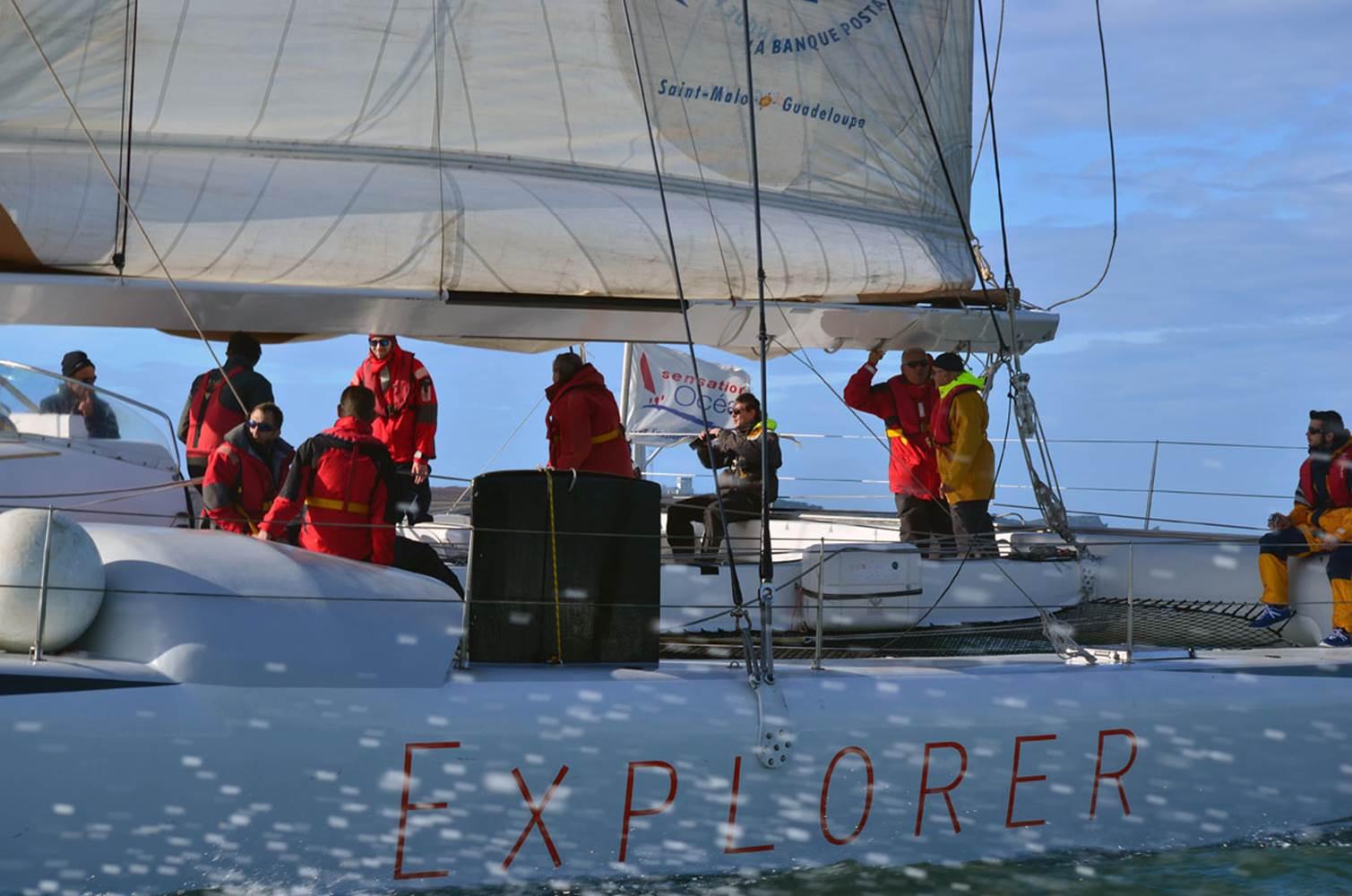 Faites partie de l'équipage d'Explorer, maxi catamaran de course © CHALLENGE OCEAN