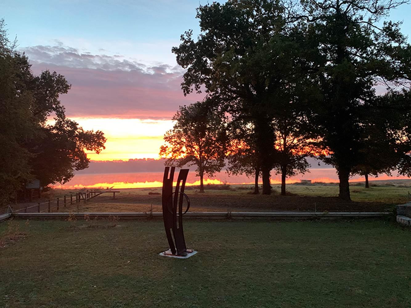 Levé de soleil sur L'Hermine du Lac ©