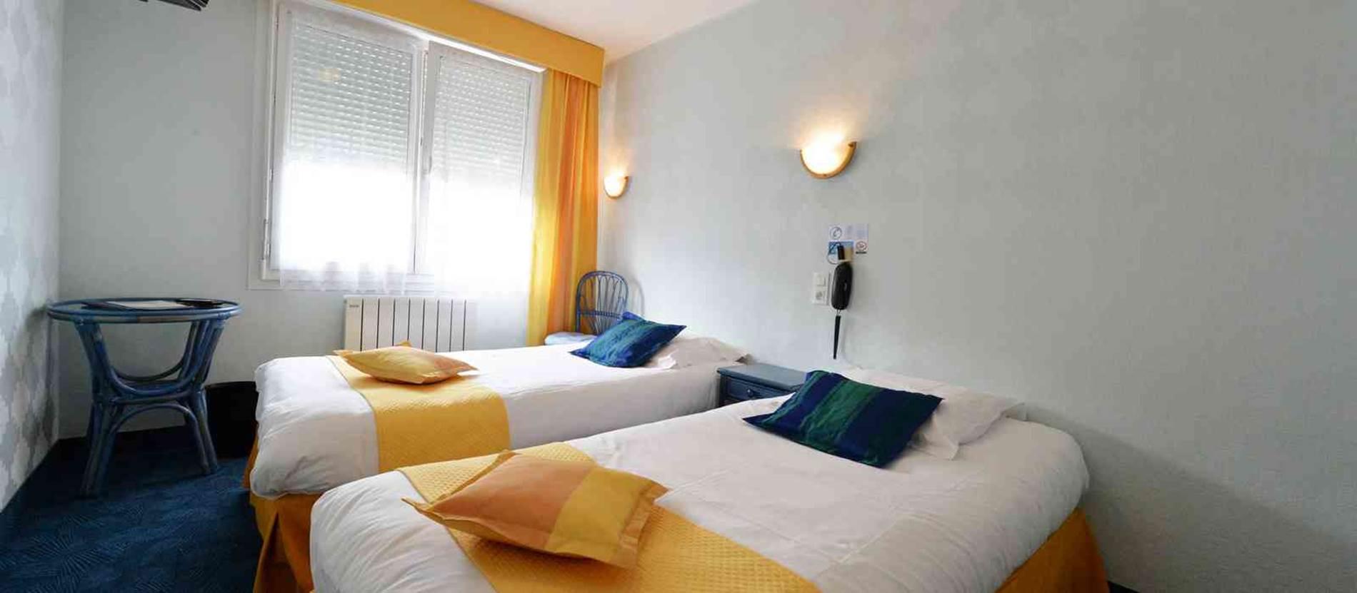 hotel-la-fontaine-theix-Morbihan-Bretagne-Sud-chambre © hotel-la-fontaine-theix
