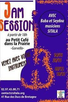 Jam session avec Sitala au Petit Café dans la Prairie