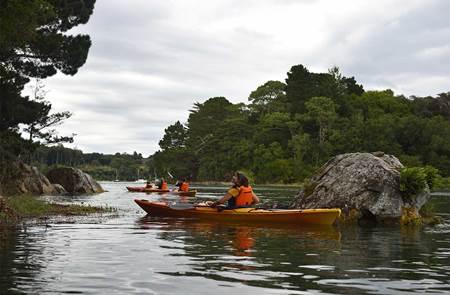 Balade nautique kayak au croisement de la rivière d'Auray et du Bono