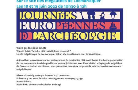 Les Journées Européennes de l'Archéologie au Site des Mégalithes